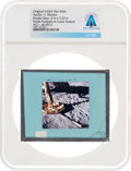 Explorers:Space Exploration, Apollo 11 Original NASA Glass Film Slide, an Image of North Footpad on Lunar Surface, Directly From The Armstrong Family C...
