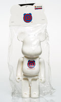 Collectible:Contemporary, BE@RBRICK X a-nation. White 400%, 2001. Painted cast resin. 10-1/4 x 5 x 3-1/2 inches (26 x 12.7 x 8.9 cm). Stamped to t...