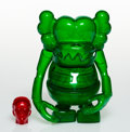Collectible:Contemporary, KAWS X Bounty Hunter. Skull Kun (Green), 2006. Cast vinyl. 6-1/2 x 5-1/4 x 3-1/4 inches (16.5 x 13.3 x 8.3 cm) (toy). 1-...