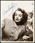 "Movie Posters:Miscellaneous, Joan Crawford (c. 1950s). Very Fine-. Autographed Portrait Photo(8"" X 10""). Miscellaneous.. ..."