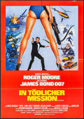 "Movie Posters:James Bond, For Your Eyes Only (United Artists, 1981). Folded, Very Fine+.German A1 (23.5"" X 33""). James Bond.. ..."