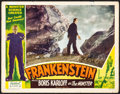 "Movie Posters:Horror, Frankenstein (Realart, R-1951). Fine+. Lobby Card (11"" X 14"").Horror.. ..."