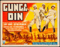 "Movie Posters:Action, Gunga Din (RKO, 1939). Fine+. Title Lobby Card (11"" X 14"").Action.. ..."