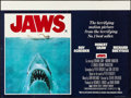 "Movie Posters:Horror, Jaws (Universal, 1975). Folded, Very Fine. British Quad (30"" X40""). Roger Kastel Artwork. Horror.. ..."