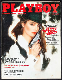 """Playboy Lot (Playboy Entertainment Group, 1973-1983) Overall: Very Fine-. Magazines (3) (Multiple Pages, 8.25"""" X 11..."""