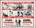 """Movie Posters:James Bond, Thunderball/You Only Live Twice Combo (United Artists, R-1971).Folded, Very Fine-. Half Sheet (22"""" X 28"""") Frank McCarthy an..."""