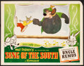 "Movie Posters:Animation, Song of the South (RKO, 1946). Very Fine-. Lobby Card (11"" X 14""). Animation.. ..."