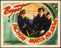 "Movie Posters:War, Action in the North Atlantic (Warner Brothers, 1943). Fine/VeryFine. Lobby Card (11"" X 14""). War.. ..."