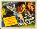 "Movie Posters:Horror, The Spider Woman Strikes Back (Universal, 1946). Folded, VeryFine-. Half Sheet (22"" X 28""). Horror.. ..."