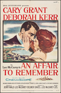 "An Affair to Remember (20th Century Fox, 1957). Folded, Very Fine-. One Sheet (27"" X 41""). Romance"