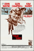 "Movie Posters:Western, True Grit (Paramount, 1969). Folded, Very Fine. One Sheet (27"" X 41""). Western.. ..."