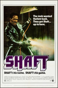 "Movie Posters:Blaxploitation, Shaft (MGM, 1971). Folded, Very Fine. One Sheet (27"" X 41""). Blaxploitation.. ..."