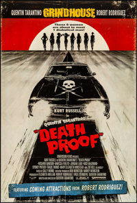 """Death Proof (Dimension, 2007). Rolled, Very Fine/Near Mint. One Sheet (27"""" X 40"""") DS. Action"""