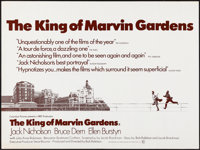"The King of Marvin Gardens (Columbia, 1972). Folded, Very Fine. British Quad (30"" X 40""). Crime"