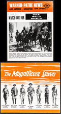 "Movie Posters:Western, The Magnificent Seven & Other Lot (United Artists, 1960). VeryFine-. British Brochure (4 Pages, 11"" X 9.25"") & Newsletter(... (Total: 2 Items)"