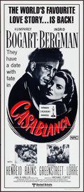 "Movie Posters:Academy Award Winners, Casablanca (United Artists, R-1970s). Folded, Very Fine/Near Mint.Australian Daybill (13"" X 30""). Academy Award Winners.. ..."