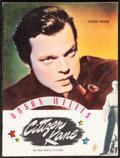 "Movie Posters:Drama, Citizen Kane (RKO, 1941). Very Fine-. Souvenir Program (20 Pages, 9"" X 12""). Drama.. ..."