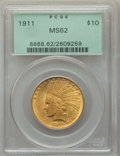 1911 $10 MS62 PCGS. PCGS Population: (3668/4451). NGC Census: (3726/2954). CDN: $740 Whsle. Bid for problem-free NGC/PCG...