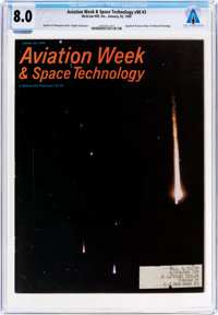 MAGAZINES: Aviation Week & Space Technology Dated January 20, 1969, Directly From The Armstr