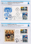 Explorers:Space Exploration, Philatelia: Commemorating First Men on the Moon First Day Cover and Apollo 11 Crew First Day Cover Directly From The Armstrong... (Total: 2 )