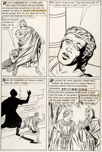 "Jack Kirby and Dick Ayers Classics Illustrated #35 ""The Last Days of Pompeii"" Story Page 25"