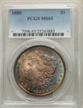 1880 $1 MS65 PCGS. PCGS Population: (1310/208). NGC Census: (699/39). CDN: $425 Whsle. Bid for problem-free NGC/PCGS MS6...