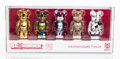 Collectible:Contemporary, BE@RBRICK X BWWT. World Wide Tour 100%, set of five, 2005. Painted cast resin. 2-3/4 x 1-1/2 x 0-3/4 inches (7 x 3.8 x 1...