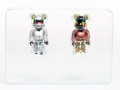Collectible:Contemporary, BE@RBRICK X Daft Punk. Daft Punk 100% (Discovery Version), set of two. Painted cast resin. 2-3/4 x 1-1/2 x 3/4 inches (7...