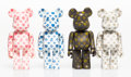 Collectible:Contemporary, BE@RBRICK . Set of Four Love Bear 100% Be@rbricks. Painted cast vinyl. 2-3/4 x 1-1/2 x 3/4 inches (7 x 3.8 x 1.9 cm) (ea... (Total: 4 Items)