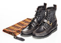Luxury Accessory:Contemporary, Yuketen X Vibram. Maine Guide Boots- Black Camo. Moccasin construction boot made from leather and wool. Size unknown. Pr...