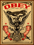 Prints & Multiples:Contemporary, Shepard Fairey (American, b. 1970). Lesser Gods Eagle, 2003. Screenprint in colors on wood. 23-1/4 x 17-1/8 inches (59.1...