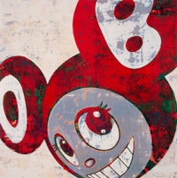 Takashi Murakami (Japanese, b. 1962) And then, and then and then and then and then (Red), 1996 Lithographs in colors o...