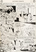 Original Comic Art:Panel Pages, Wayne Boring and Stan Kaye Action Comics #199 Story Page 3 Original Art (DC, 1954)....