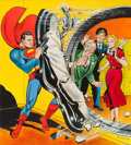 Original Comic Art:Covers, Al Plastino Action Comics #146 Cover Re-Creation Painting Superman Original Art (undated)....