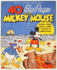 40 Big Pages of Mickey Mouse #945 (Whitman, 1936) Condition: VF/NM