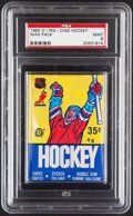 Basketball Cards:Unopened Packs/Display Boxes, 1985-86 O-Pee-Chee Hockey Unopened Pack PSA Mint 9. ...