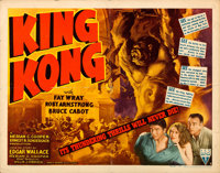 "King Kong (RKO, R-1942). Folded, Fine/Very Fine. Half Sheet (22"" X 28"") Style A"