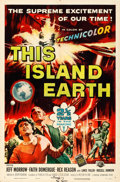 Movie Posters:Science Fiction, This Island Earth (Universal International, 1955). Folded,...
