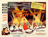 "Invasion of the Body Snatchers (Allied Artists, 1956). Folded, Fine/Very Fine. Autographed Half Sheet (22"" X 28&quo..."