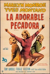 "Let's Make Love (20th Century Fox, 1960). Folded, Fine/Very Fine. Argentinean One Sheet (29"" X 43""). Comedy..."