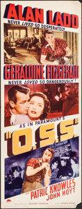 "Movie Posters:War, O.S.S. (Paramount, 1946). Rolled, Very Fine-. Insert (14"" X 36"").War.. ..."