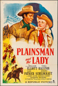"Movie Posters:Western, Plainsman and the Lady (Republic, 1946). Folded, Very Fine-. OneSheet (27"" X 41""). Western.. ..."