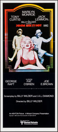 "Movie Posters:Comedy, Some Like It Hot (United Artists, R-1980). Folded, Very Fine. Australian Daybill (13"" X 30""). Comedy.. ..."