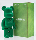 Collectible:Contemporary, BE@RBRICK X Fragment. The Park-Ing Ginza 1000%, 2017. Cast resin flocked in green felt. 28 x 13-1/4 x 9-1/2 inches (71.1...