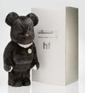 Collectible:Contemporary, BE@RBRICK X a-nation. HF 1000% (Black), 2004. Cast resin with faux fur covering. 28 x 13-1/4 x 9-1/2 inches (71.1 x 33.7...