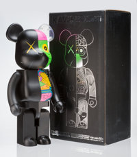 KAWS X BE@RBRICK Dissected Companion 1000% (Black), 2010 Painted cast vinyl 28 x 13-1/4 x 9-1/2 inches (71.1 x 33.7 x