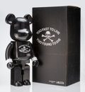 Collectible:Contemporary, BE@RBRICK X mastermind JAPAN. Sense 1000% (Black/Silver), 2016. Painted cast resin. 28 x 13-1/4 x 9-1/2 inches (71.1 x 3...