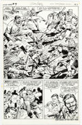 Original Comic Art:Panel Pages, Dick Ayers and John Severin Capt. Savage and His LeatherneckRaisers #19 Story Page 18 Original Art (Marvel Comics...