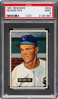 Baseball Cards:Singles (1950-1959), 1951 Bowman Nelson Fox #232 PSA Mint 9 - Only One Higher....