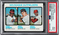 Baseball Cards:Singles (1970-Now), 1973 Topps Dwight Evans - Rookie Outfielders #614 PSA Mint 9....